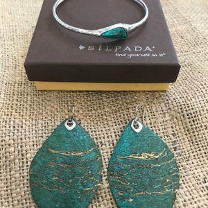 Silpada Encore Bracelet & Cayman Earrings